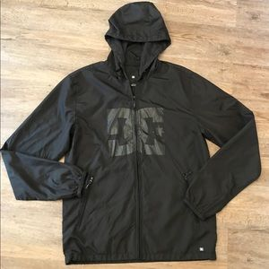 Men's DC Shoes Windbreaker Black on Black